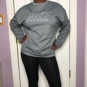 Nike Womens Oversized Grey Sweater Size Large